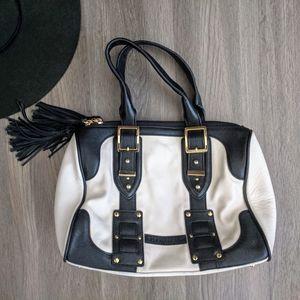 Bcbg Max Azria Leather Black and White Handbag
